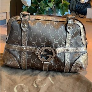Gucci Metallic Shoulder Bag.